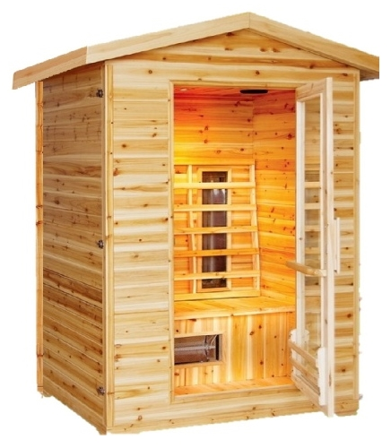 burlington 1 2 person outdoor infrared sauna. Black Bedroom Furniture Sets. Home Design Ideas
