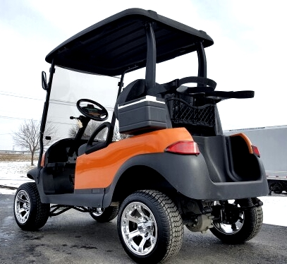 Burnt Orange Gas Golf Cart Club Car Precedent Lifted & Customized on portable lift truck, portable car lift ramps, portable automotive lift, portable hydraulic lift, portable lift for disabled, portable lift tables, portable lift system for traveling, portable stair lift, portable lift tree, portable lift disabled person, portable lift chair,