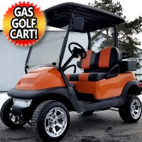 Burnt Orange Gas Golf Cart Club Car Precedent Lifted & Customized