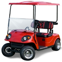 Cherry Red Phoenix Ez-Go 36V Electric Golf Cart