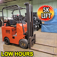 Clark Forklift 5,000 Lift Cap. Heavy Duty Propane Forklift With 2550 Hrs. - 2 Stage Mast - Manual