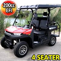 Gas Golf Cart EFI UTV 200cc Crossfire Utility Vehicle 4 Seater