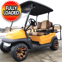 48V Electric Club Car Precedent Golf Cart With Custom Rims Tires Radio & Flip Seat - Casino Edition