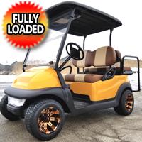 48V Electric Club Car Precedent Golf Cart With Custom Rims Tires Radio & Flip Seat - Casino Edition