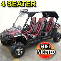 Gas Golf Cart Challenger 4 200 EX 4 Seater Trailmaster UTV Fuel Injected