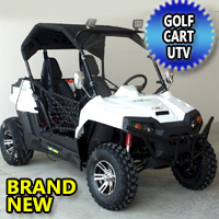 Gas Golf Cart UTV Hybrid 150cc Utility Vehicle Extended Challenger X Version W/Lights & Custom Rims/Tires