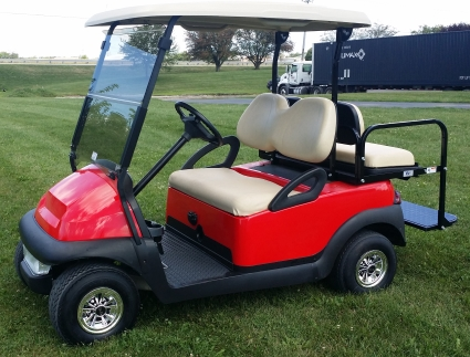 48V Cherry Red Club Car Precedent Electric Golf Cart on red ezgo golf cart, red dot enclosures golf cart, lifted ezgo golf cart, car wheels on lifted golf cart, red custom golf cart, red chevy golf cart, super lifted golf cart, red golf cart illustration, lifted yamaha golf cart, red jack up golf carts,