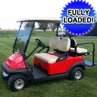 48V Cherry Red Club Car Precedent Electric Golf Cart