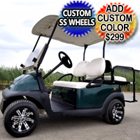 48v Electric Golf Cart Club Car Precedent With Flip Seat & Custom Rims