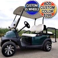 48v Electric Golf Cart Club Car Precedent With Flip Seat & Custom Rims