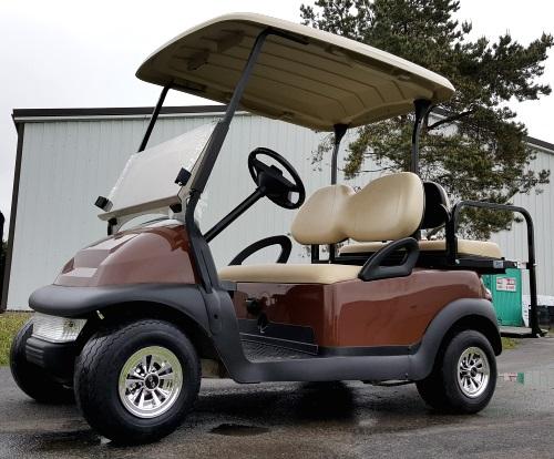 48V Copper Brown Electric Club Car Precedent Electric Golf Cart w ...