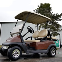 48V Copper Brown Electric Club Car Precedent Electric Golf Cart w/ Rear Flip Seat