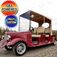 Roadster Fully Custom Gas Golf Cart With Street Legal Light Package & More