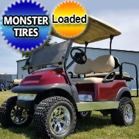 48V Electric Maroon Golf Cart Club Car Precedent w/ Light Kit & Rear Flip Seat