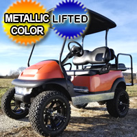 48V Electric Club Car Precedent Golf Cart Lifted With Metallic Custom Rims Flip & More