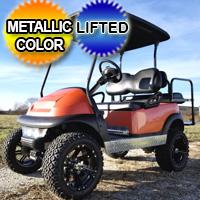 48V Electric Club Car Precedent Golf Cart Lifted With Metallic Custom Rims Flip & More