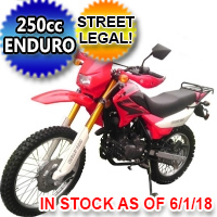 250cc Enduro Storm 4 Stroke Street Legal Dirt Bike Motorcycle