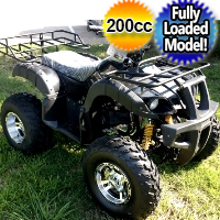 200cc Elite ATV Fully Loaded Fully Automatic w/Chrome Rims & Reverse!