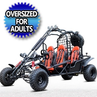 4-Seater 169cc Off-Road Gas Go Kart - DF200GKE