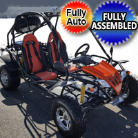 200cc Jaguar RS Fully Automatic w/ Reverse Go Kart with Alloy Rims - Demo Model