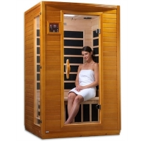 2 Person Sauna Dynamic Carbon Far Infrared, Treviso Edition with 6 Carbon Heaters & MP3 Hook Up