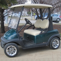 48V Club Car Precedent w/ Chrome Rims - Dark Green