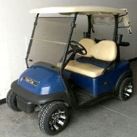 Dark Blue 48v Electric Club Car Precedent Golf Cart