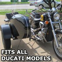 Euro RocketTeer Side Car Motorcycle Sidecar Kit - All Ducati Models