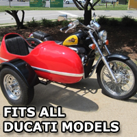 RocketTeer Side Car Motorcycle Sidecar Kit - All Ducati Models