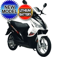 500 Watt 48V Electric Scooter Moped Lithium Powered - E-500
