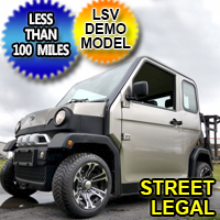 Four Passenger Electric LSV Street Legal Low Speed Vehicle