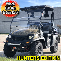 Brand New Electric Golf Cart Hybrid UTV 60v Electric Big Horn EV5 UTV Hunter Edition Utility Vehicle