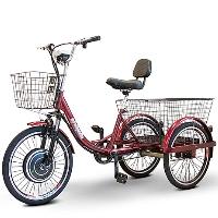 EWheels 500 Watt Adult Electric Powered Tricycle Motorized 3 Wheel Trike Bicycle - EW-29