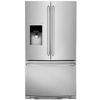 Electrolux EW23BC87SS 21.5 cu. ft. Capacity Counter Depth French Door Refrigerator with Wave-Touch Controls and Humidity Controlled Crispers - Stainless Steel - New w/Tiny Cosmetic Blemish