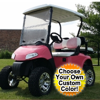 Pink RXV EZ-GO Gas Golf Cart w/ 13hp Kawasaki Motor