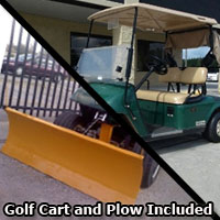 EZ-GO 36v PDS Series Electric Golf Cart w/ Charger & Plow