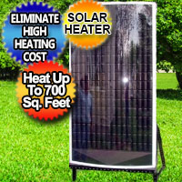 Solar Air Heater Furnace Eco 6,000 BTU - Super Efficient Heat