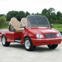 LTZ Convertible Club Car Sports Car Electric Golf Cart
