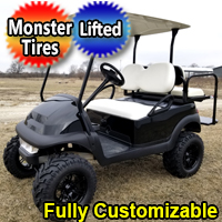 Electric 48v Club Car Precedent Golf Cart Lifted With Monster Tires & Rear Flip Seat