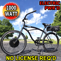 1000 Watt Dewey Electric Bicycle Scooter Moped With Pedals