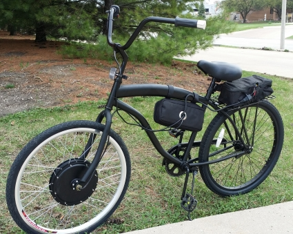 1000 Watt Dewey Electric Bicycle Stretch Street Cruiser Bike