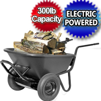 Heavy Duty Electric Powered Motorized Wheelbarrow - 6cu Feet- 300lb Capacity