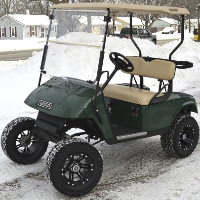 Green EZ-GO 36v Electric Golf Cart w/ Custom Rims & Tires