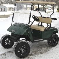 Ez Go 36v Electric Lifted Golf Cart - Grasshopper Edition With Custom Rims & Tires