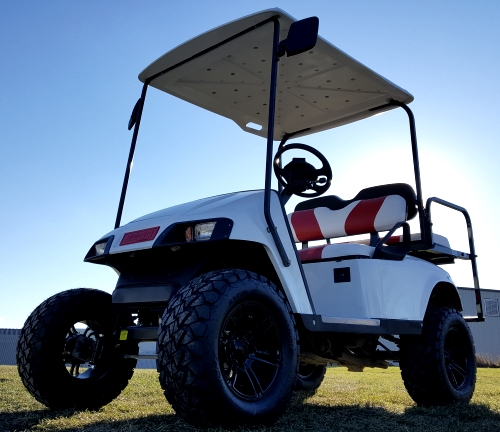 Ezgo Golf Cart All White on white and blue golf cart, white go cart, white custom golf cart, white yamaha golf cart, white gas golf cart, white hummer golf cart,