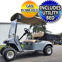EZ GO TXT Gas Golf Cart w/ Rear Utility Bed