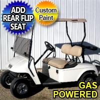 EZ GO TXT Gas Golf Cart w/ SS Wheel Covers & Rear Tail Lights