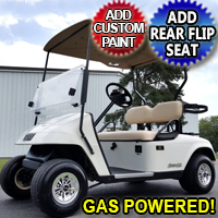 EZ GO TXT Gas Golf Cart w/ SS Wheel Covers & Rear Tail Lights