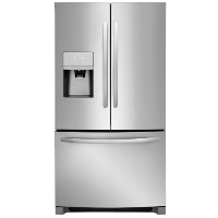 Frigidaire FFHD2250TS 22.7 Cu. Ft. Counter Depth French Door Refrigerator with Store-More Shelves and PureSource Ultra II Water Filtration - Stainless Steel - New w/Tiny Cosmetic Blemish