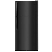 Frigidaire FFTR1821TB Refrigerator 18 Cu. Ft. Top Freezer Fridge - Black - New w/Tiny Cosmetic Blemish
